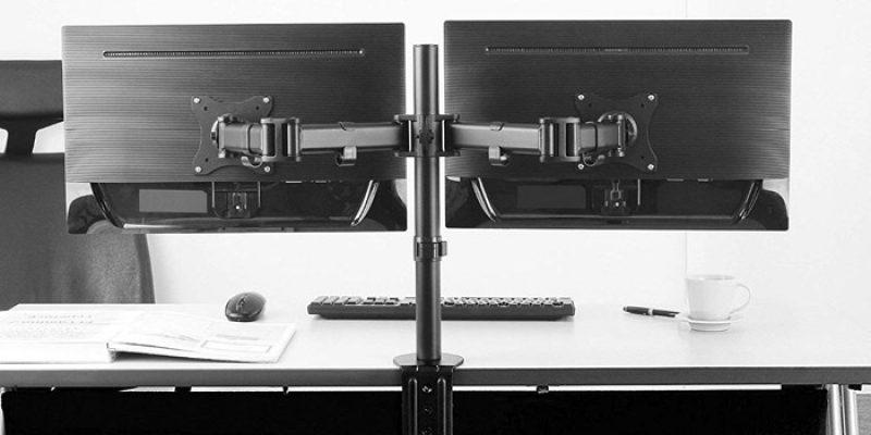 RICOO Monitor Tischhalterung für 2 Monitore TS5811 (13 – 27 Zoll Monitore) für 26,59€