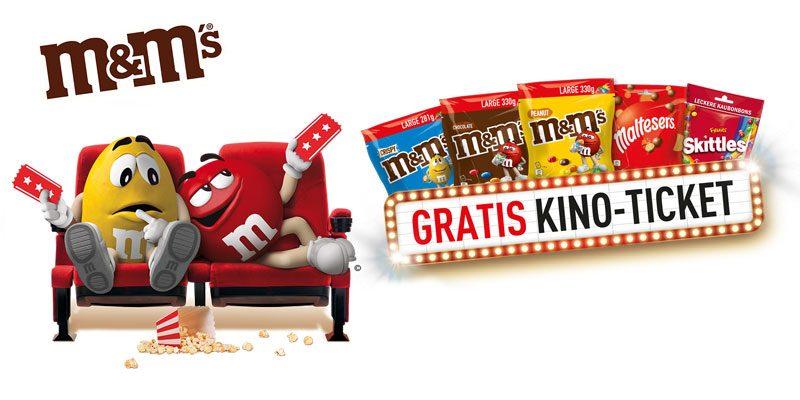 Gratis Kino-Ticket beim Kauf von M&M's, Skittles oder Maltesers für mind. 10€