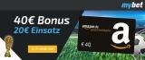 myBet Sportwetten: 40€ Amazon Gutschein geschenkt für 20€ Wetteinsatz