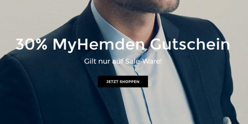 30% MyHemden Gutschein auf Sale-Artikel