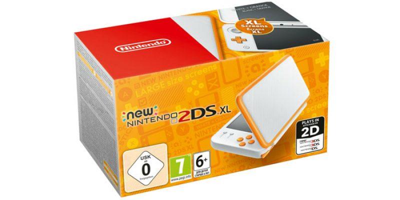 New Nintendo 2DS XL Konsole (weiß + orange) für 89€