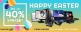 Notebooksbilliger Happy Easter Aktion: bis zu 40% Rabatt auf Notebooks, PCs, Monitore, Drucker, Smart Home & mehr