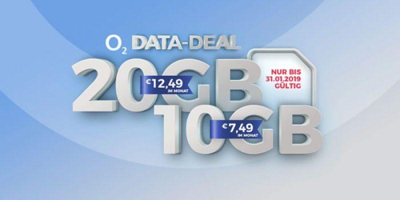 o2 my Data M für 7,49€ oder o2 my Data L für 12,49€