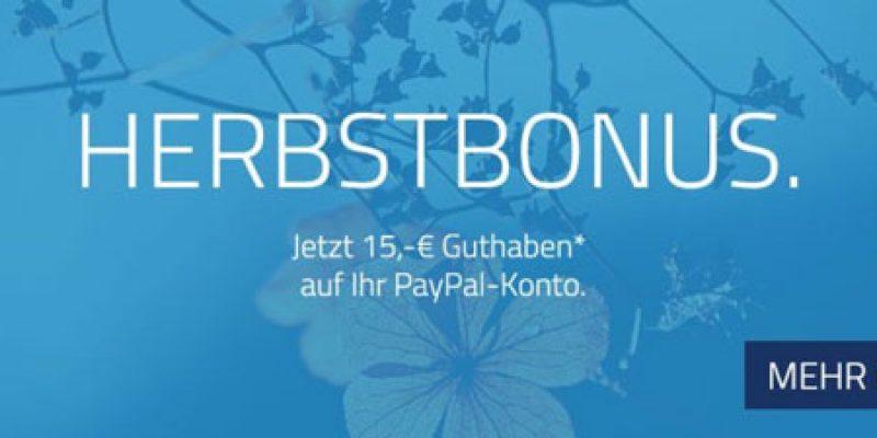 15€ Office-Partner Gutschein ab 60€ bei Zahlung mit PayPal + Herbstbonus
