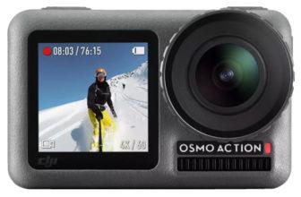 DJI Osmo Action Kamera mit RockSteady Bildstabilisierung + Action Ladekit mit 2 Akkus für 239€