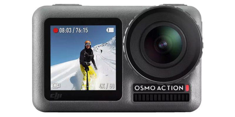 DJI Osmo Action Kamera mit RockSteady Bildstabilisierung + Action Ladekit mit 2 Akkus für 229€