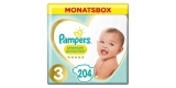 Pampers Premium Protection Monatsbox (Größe 3 & 4) für 25,15€ bzw. 26,71€