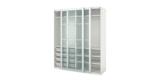 IKEA PAX Kleiderschrank (200 x 66 x 236 cm) in weiß mit Frostglas Schiebetüren für 517€ + 69€ Versand