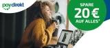 Notebooksbilliger Paydirekt Aktion: 20€ Gutschein bei Zahlung mit Paydirekt (50€ MBW) + Gratis-Versand