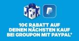 10€ Groupon Gutschein (15€ MBW) bei Zahlung mit PayPal [Groupon Gutscheine sind 12 Monate gültig]
