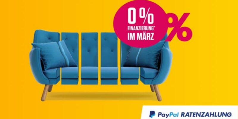 PayPal Ratenzahlung mit 0% Finanzierung für 12 Monate (199€ – 5.000€)