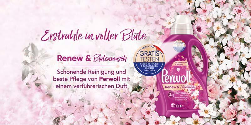 Perwoll Cashback Aktion: Perwoll Renew & Blütenrausch kostenlos testen