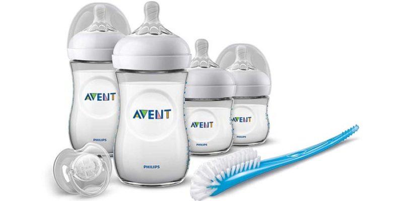 Philips Avent Natural Flaschen-Set für Neugeborene (4 Flaschen, Bürste & Schnuller) für 25,99€