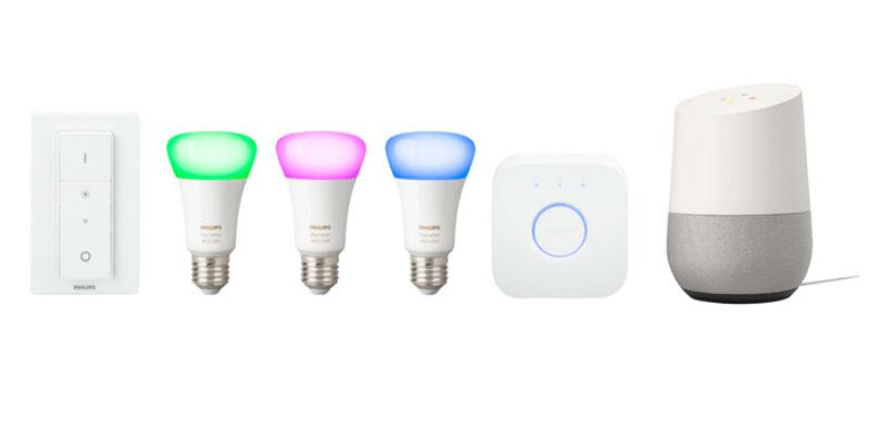 Philips Hue White & Color E27 Starter-Kit + Google Home Sprachassistent für 199€
