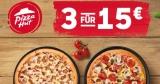 Pizza Hut Aktion: 3 Pizzen für 15€ bei Abholung