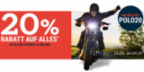 Polo Motorrad Gutschein: 20% auf fast alles bis zum 26.09.2021