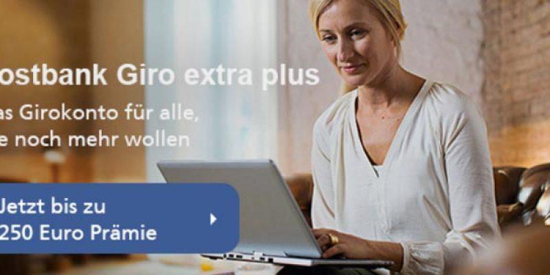 Postbank Giro Extra Plus Konto + bis zu 250€ BestChoice Gutschein als Prämie