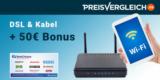 Preisvergleich.de DSL Anbieter Vergleich + 50€ BestChoice- oder Amazon Gutschein Prämie
