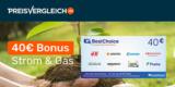 Preisvergleich.de Strom- oder Gas-Wechsel: 40€ BestChoice-/Amazon Gutschein je Wechsel geschenkt