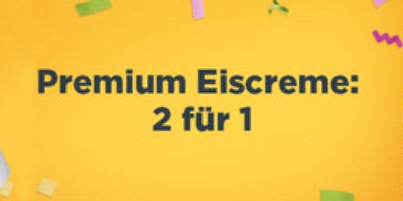 Amazon Prime Now: 2 für 1 Premium Eiscreme Aktion (z.B. Häagen Dazs oder Ben & Jerry's)