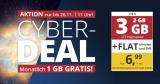 PremiumSIM Cyber Deal: Allnet-Flat + 3 GB LTE für 6,99€/Monat – monatlich kündbar & ohne Anschlussgebühr