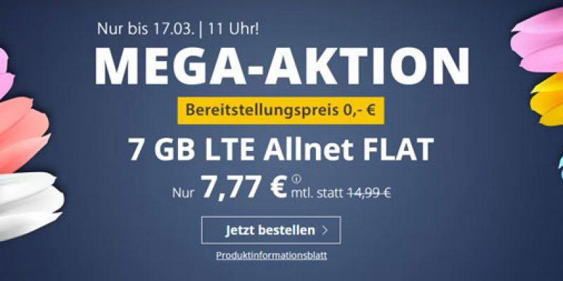 PremiumSIM LTE L Tarif: All-Net-Flat + 7 GB LTE für 7,77€