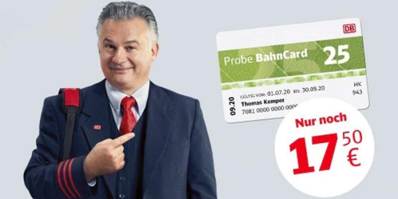 Probe BahnCard 25 oder 50 für 17,50€ bzw. 70,50€ kaufen