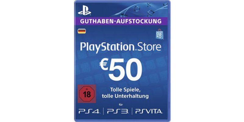 50€ Playstation Store Guthaben (PSN) für 38,98€ (bei Abholung)