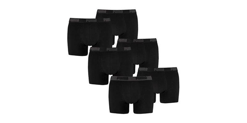6x Puma Boxershorts Limited Statement Edition (schwarz) für 28,40€