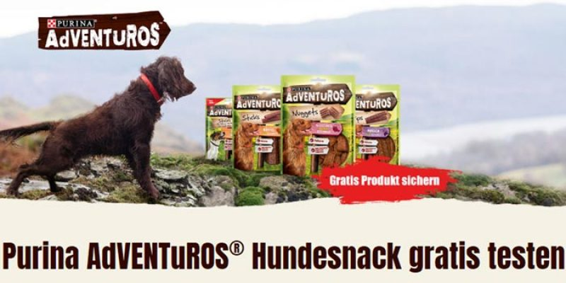 Purina AdVENTuROS Hundesnack kostenlos bestellen