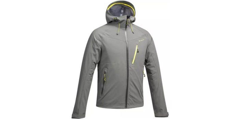 Quechua Wanderjacke MH500 Bergwandern (khakigrau/limette) für 39,99€ + evtl. 3,99€ Versand