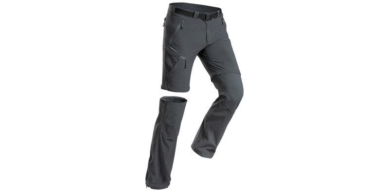 Quechua Zip-Off Wanderhose MH550 (in Grau oder Khaki) für 33,98€