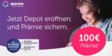 Quirion Robo-Advisor: Gratis Depot eröffnen + 100€ Startguthaben als Prämie für 30€ Sparplan