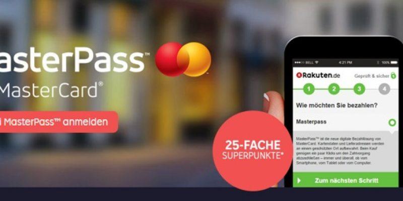 Rakuten Masterpass Aktion: 25-fache Superpunkte