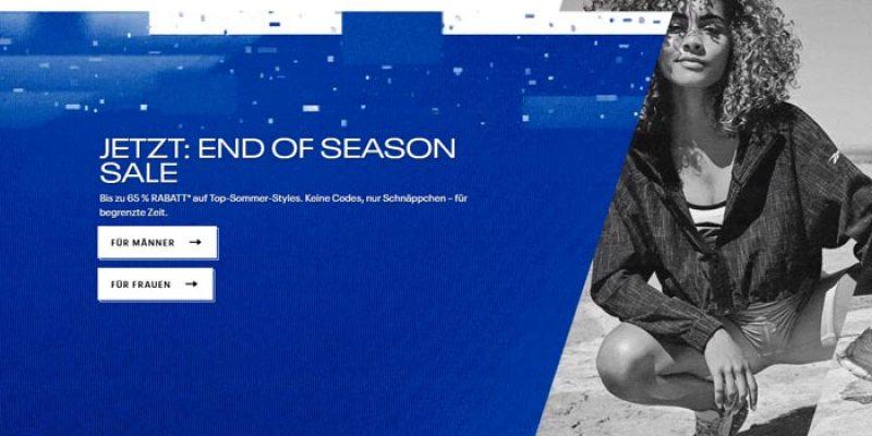 Reebok End of Season Sale mit bis zu 65% Rabatt + 20% Gutschein