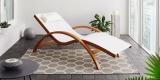 Gartenliege Kora (Relaxliege in weiß) aus Lärchenholz für 75,25€