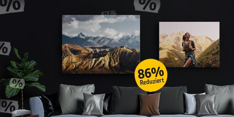 REWE Fotoleinwand 80x60cm für nur 16,44€ oder 120x80cm für 24,80€ inklusive Versand