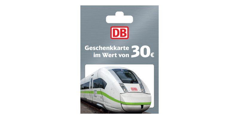 30€ Deutsche Bahn Geschenkgutschein für 25€ bei REWE