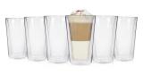 6x Doppelwandige Latte Macchiato Gläser (250 ml) für 19,99€ – ohne Finger verbrennen