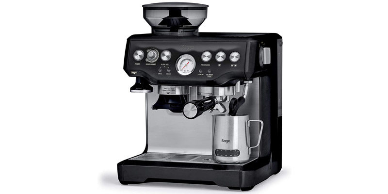 Sage Barista Express Kaffeemaschine SES875 für 479,99€ (Siebträgermaschine + Mahlwerk + Milchaufschäumer)