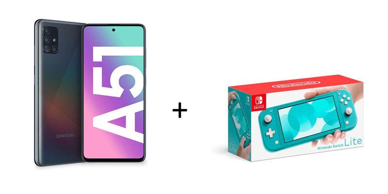 Samsung Galaxy A51 Vertrag: Smartphone + Nintendo Switch Lite + 3GB LTE Vodafone Tarif mit Allnet Flat für 14,99€/Monat