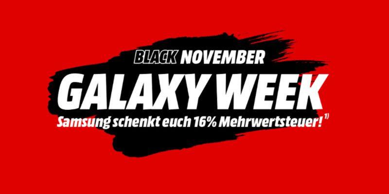 Media Markt Samsung Aktion: 16% Mehrwertsteuer geschenkt [Galaxy Week]