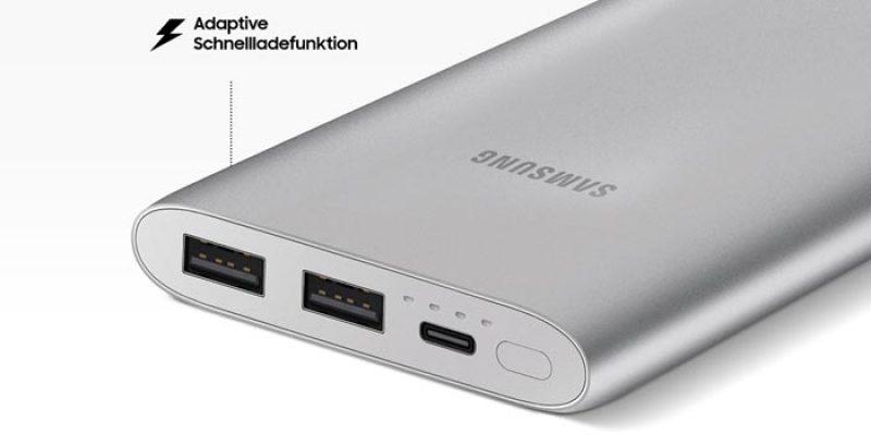 Samsung Powerbank EB-P1100C mit Schnellladefunktion (10.000 mAh & USB Typ-C) für 13,90€