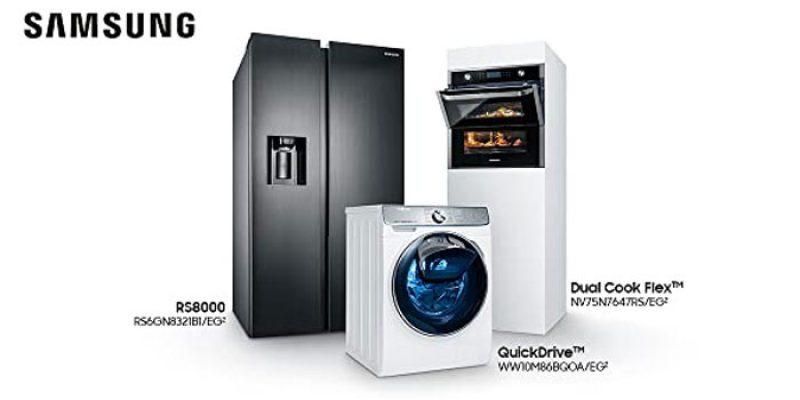 Samsung Superdeals 2020: bis zu 250€ Cashback auf Haushaltsgeräte (Waschmaschinen, Kühlschränke, Backöfen, etc.)
