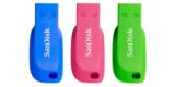 3er Pack SanDisk Cruzer Blade USB-Stick mit 16GB für 7€