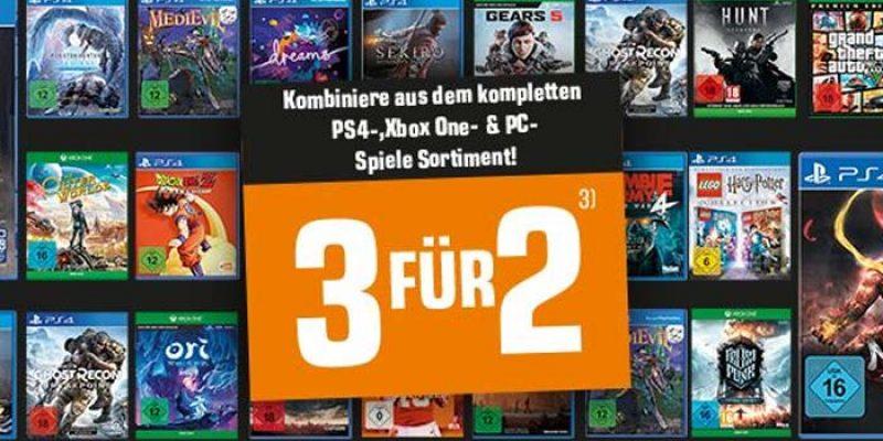Saturn Games Aktion: 3 für 2 Spiele (Playstation 4, XBOX One & PC)