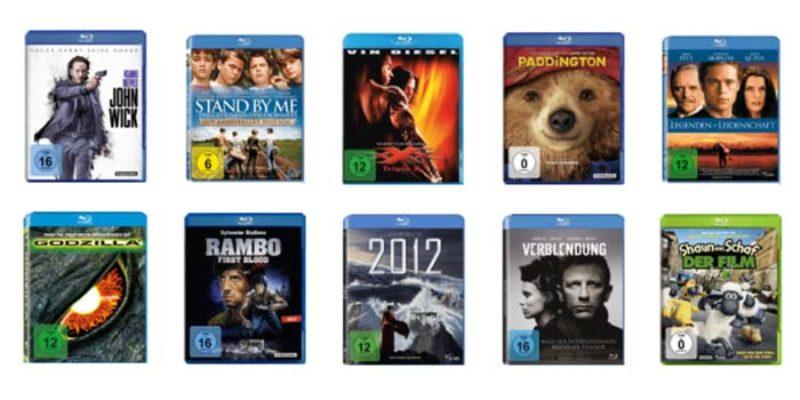 Saturn Blu-ray & DVD Aktion: 3 Filme (Blu-ray oder DVD) für 10€