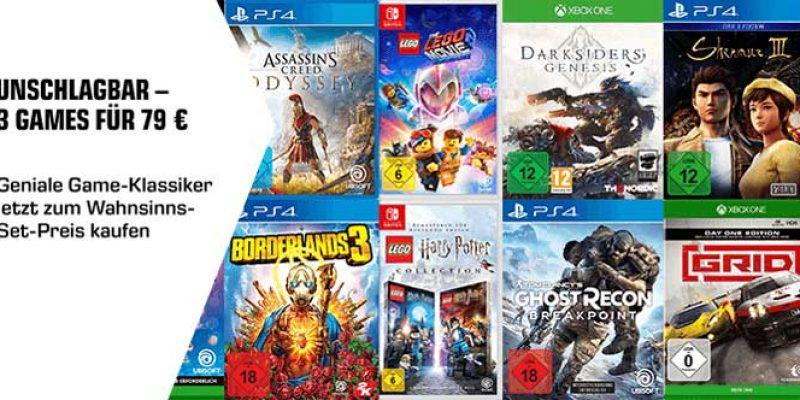 Saturn Spiele Aktion: 3 Games für 79€ (Playstation oder Xbox)