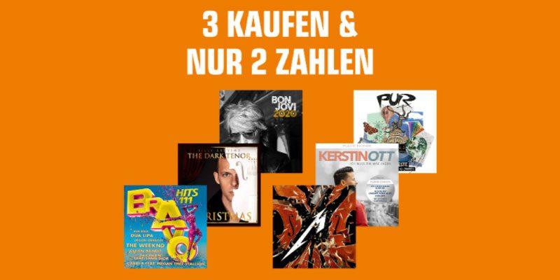 Saturn Nimm 3 Zahl 2 Aktion auf Filme, TV-Serien & Musik (auch Vinyl)