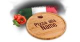 Kostenloser personalisierter Bambus Pizza-Teller beim Kauf von 4x Schär-Pizzen